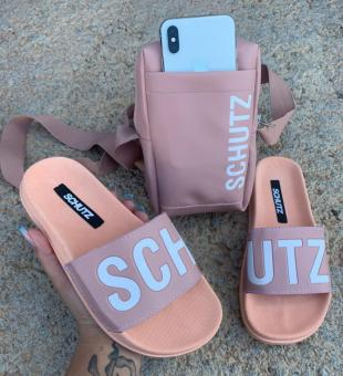 KIT SCHUTZ ADULTO ROSE CHINELO+BOLSA - Código 160-22-1